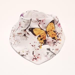 Valgel liblikad ja lilled kaelarätt