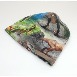 Dinosaurustega meriinovoodriga beanie müts