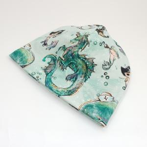 Meredraakon meriinovoodriga beanie müts