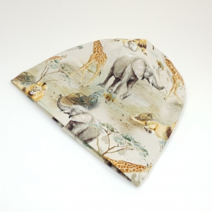 Savanni loomad meriinovoodriga beanie müts