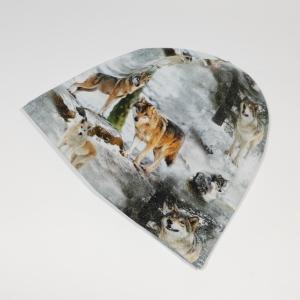 Hundid metsas meriinovoodriga beanie müts
