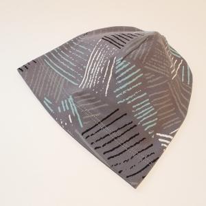 Triibud hallil beanie müts 35-38 cm
