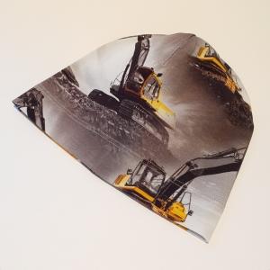 Ehitusmasinad hallil beanie müts