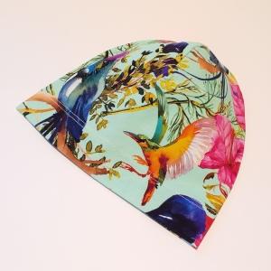 Linnud ja lilled mündil beanie müts