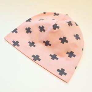 Plussid roosal beanie müts