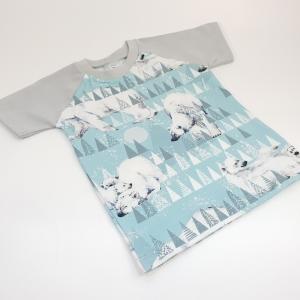 Jääkarud helesinisel särk