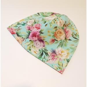 Lilled mündil beanie müts