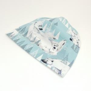 Jääkarud helesinisel beanie müts
