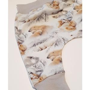 Jääkarud lumel soonikuga püksid